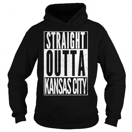 Straight Outta Kansas City Missouri Funny Trendy Hot T-Shirt
