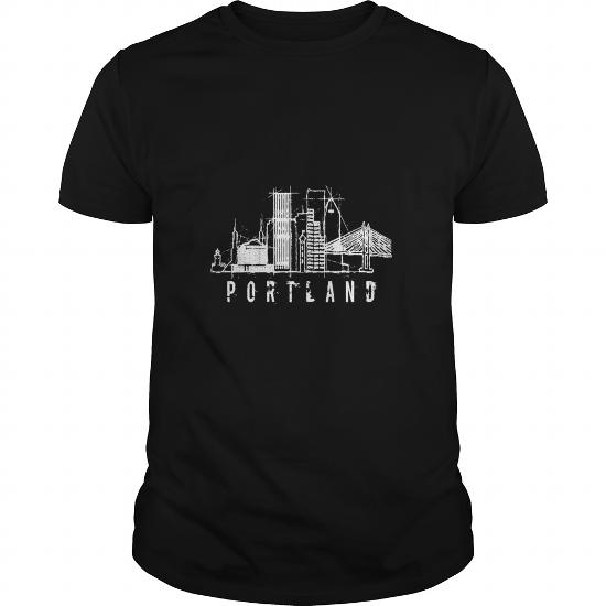 Portland City Oregon Graphic Skyline Modern